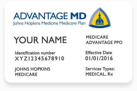 johns hopkins medicare advantage plan card